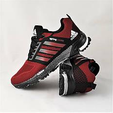 Кроссовки мужские красные в стиле Adidas (адидас) из текстиля. Кросівки чоловічі червоні