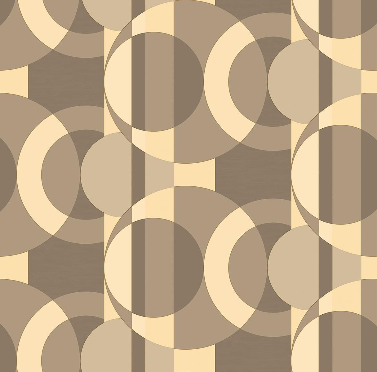 Обои бумажные Мираж, бежевый 0.53x10.05м. 24рул./1337
