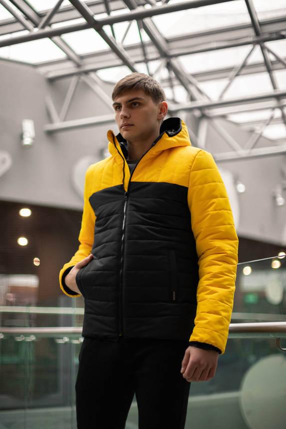 """Демисезонная Куртка """"Temp"""" бренда Intruder (желтая - черная), фото 2"""
