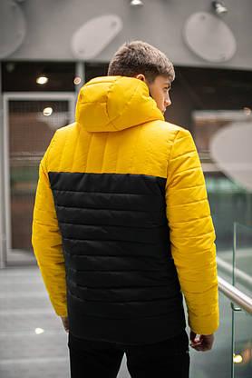 """Демисезонная Куртка """"Temp"""" бренда Intruder (желтая - черная), фото 3"""