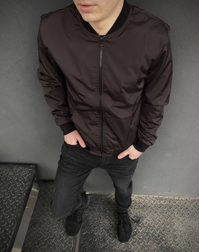 Бомбер коричневый мужской весенний, фото 2