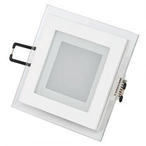 Светодиодный светильник квадрат врезной 12W Glass Rim 4000K 459/1, фото 2