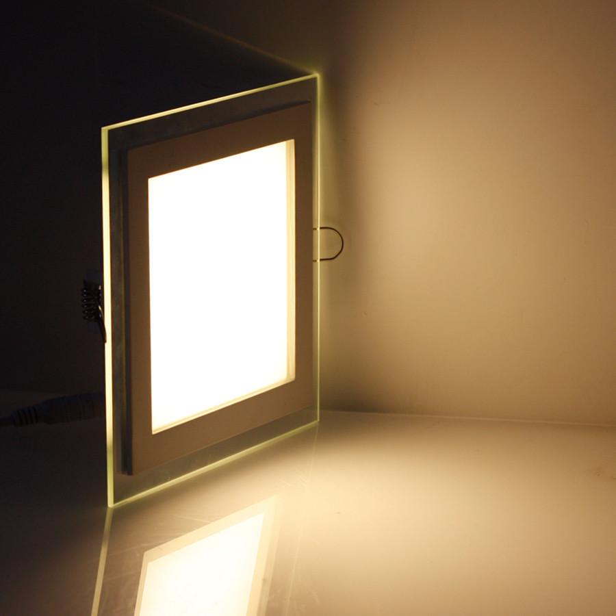 Светодиодный светильник квадрат врезной 12W Glass Rim 4000K 459/1
