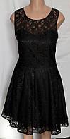 Платье коктейльное, черное кружево, большой размер 18(50)
