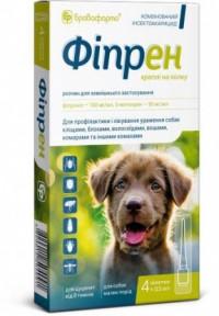 Фипрен спот-он 4 пипетки для собак (фипронил), Бровафарма 0,5 мл для мелких пород