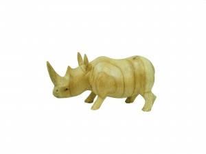 Статуэтка носорога из натурального дерева джимпиниш