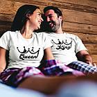 """Парні футболки для закоханих  """"King / Queen"""", фото 3"""