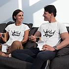"""Парні футболки для закоханих  """"King / Queen"""", фото 2"""