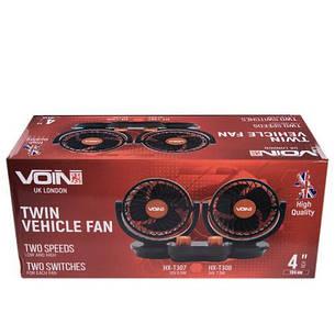 """Вентилятор VOin HX-T307 4"""" 12V 6.5 W подвійний дві швидкості/два регулювання (HX-T307), фото 2"""