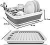 Складная универсальная сушилка для посуды и продуктов / Сушки и органайзеры для посуды, фото 2