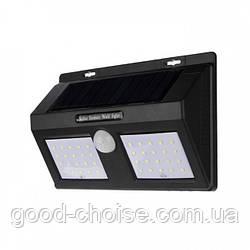 Уличный светодиодный фонарь с датчиком движения Solar 1626A /  Светодиодный фонарь на 40 диодов