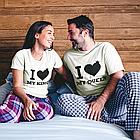 "Парні футболки для хлопця і дівчини ""I love King /I love Queen"", фото 2"