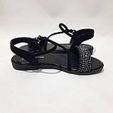 Женские босоножки р. 36,40 чёрные стильные, фото 5