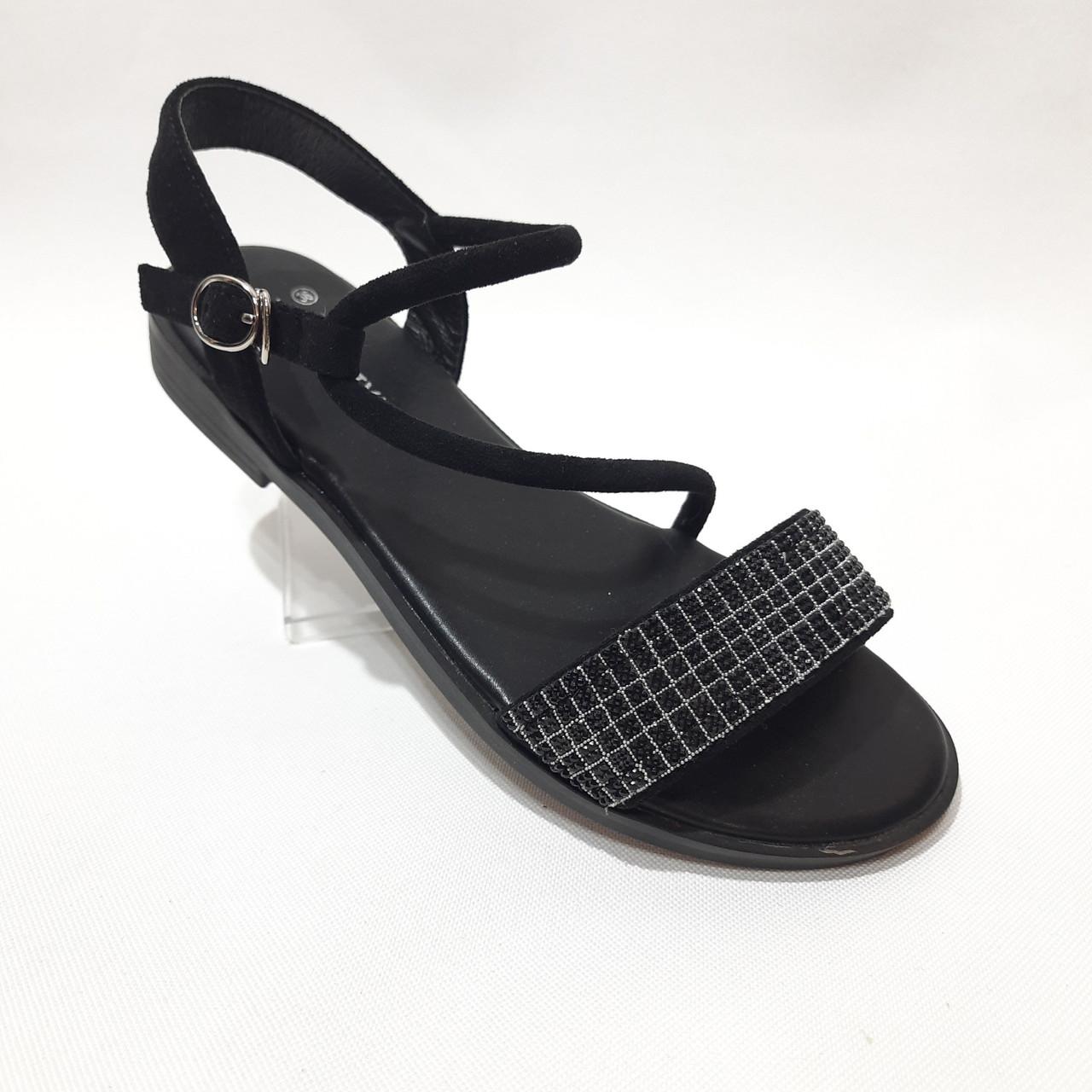 Женские босоножки р. 36,40 чёрные стильные