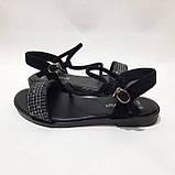 Женские босоножки р. 36,40 чёрные стильные, фото 6