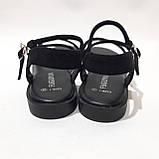 Женские босоножки р. 36,40 чёрные стильные, фото 7