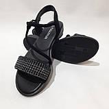 Женские босоножки р. 36,40 чёрные стильные, фото 4