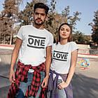 """Парні футболки для закоханих  """"ONE / LOVE"""", фото 2"""