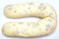 """Подушка для беременных и кормления ОП-15 OLVI с рисунком """"Звездочка на желтом"""""""
