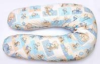 """Подушка для беременных и кормления ОП-15 OLVI с рисунком """"Мишка на голубом"""", фото 1"""