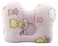 Подушка ортопедическая для младенцев (бабочка) ОП-2 J2302 OLVI с рисунком «Звёздочки на розовом»