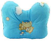Подушка ортопедическая для младенцев (бабочка) ОП-2 J2302 OLVI с рисунком «Звёздочки на голубом»