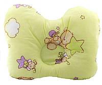 """Подушка ортопедична для немовлят (метелик) ВП-2 J2302 OLVI з малюнком «Зірочки на салатовому"""", фото 1"""