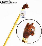 Трость Artes, древесина бамбука, рукоять в виде головы кота Garcia 505