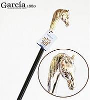Трость Artes, рукоять в виде головы лошади, серебристая Garcia 597, фото 1
