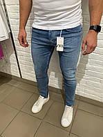 Чоловічі джинси Zara сині Чоловічі штани штани светлие