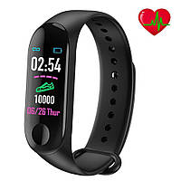 Фитнес-часы М3 копия, смарт браслет smart watch, аналог mi band 3, треккер, сенсорные фитнес часы