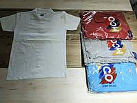 Футболка-поло детская для мальчикаоднотонная размер 6-9 лет, цвет уточняйте при заказе
