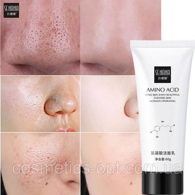 Пенка для умывания с аминокислотами Senana Amino Acid Facial Cleanser Foam, 60 г
