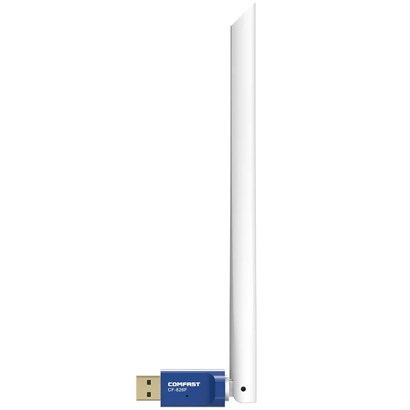 Comfast CF-826F WiFi адаптер 2.4Ghz 300Mbps c мощной антенной 6dbi 20см.
