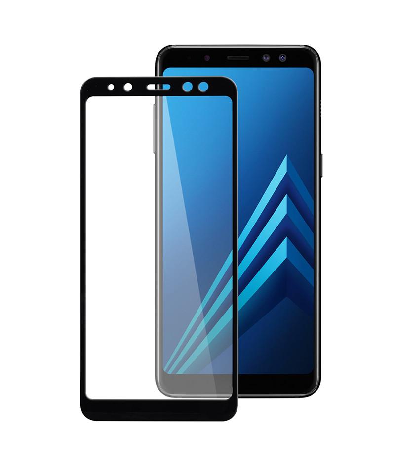 Защитное стекло Full screen PowerPlant для Samsung Galaxy A8 (2018), Black