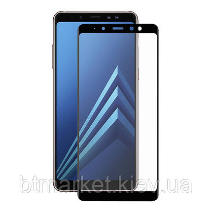 Защитное стекло Full screen PowerPlant для Samsung Galaxy A8+ (2018), Black, фото 2