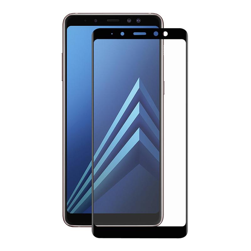 Защитное стекло Full screen PowerPlant для Samsung Galaxy A8+ (2018), Black