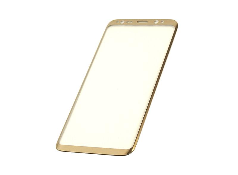 Защитное стекло 3D PowerPlant для Samsung S8 Gold