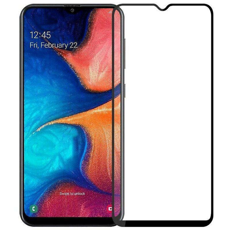 Защитное стекло Full screen PowerPlant для Samsung Galaxy A20S, Black