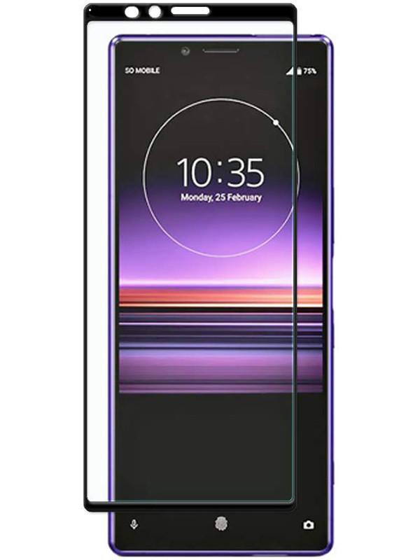 Защитное стекло Full screen PowerPlant для Sony Xperia 1 (Xperia XZ4), Black