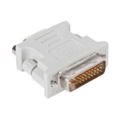 Переходник PowerPlant DVI-D M - VGA F, белый