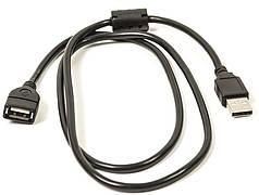 Кабель PowerPlant USB 2.0 AF – AM, 1.0 м, One ferrite
