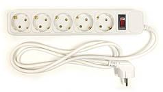 Сетевой фильтр PowerPlant 1.8 м, 3x1.5мм2, 10А, 5 розетoк, евростандарт (JY-1056/1.8)