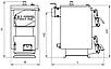 Altep Mini 12 кВт твердопаливний котел тривалість горіння при одноразової завантаженні палива до 8 годин, фото 9