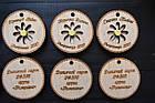 Двухсторонние именные медальки из фанеры для встречи выпускников с гравировкой, фото 2