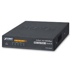 Неуправляемый коммутатор PoE Planet FSD-504HP (4-Port 10/100Mbps 802.3af/at PoE + 1-Port 10/100Mbps)