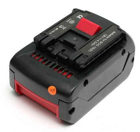 Аккумулятор PowerPlant для шуруповертов и электроинструментов BOSCH GD-BOS-18(B) 18V 4Ah Li-Ion, фото 2