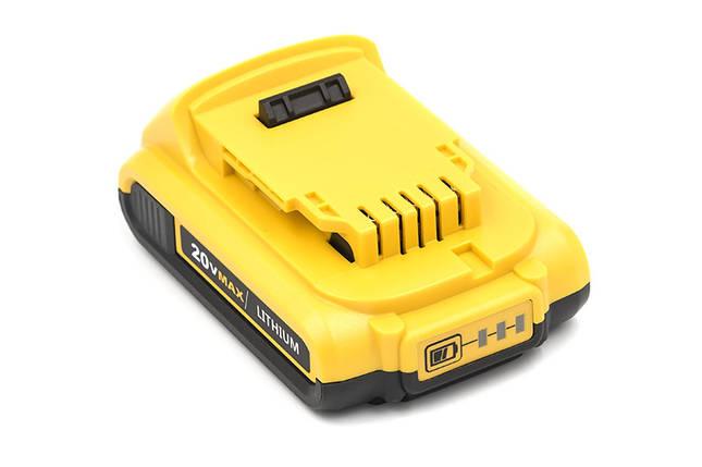 Аккумулятор PowerPlant для шуруповертов и электроинструментов DeWALT 20V 1.5Ah Li-ion, фото 2