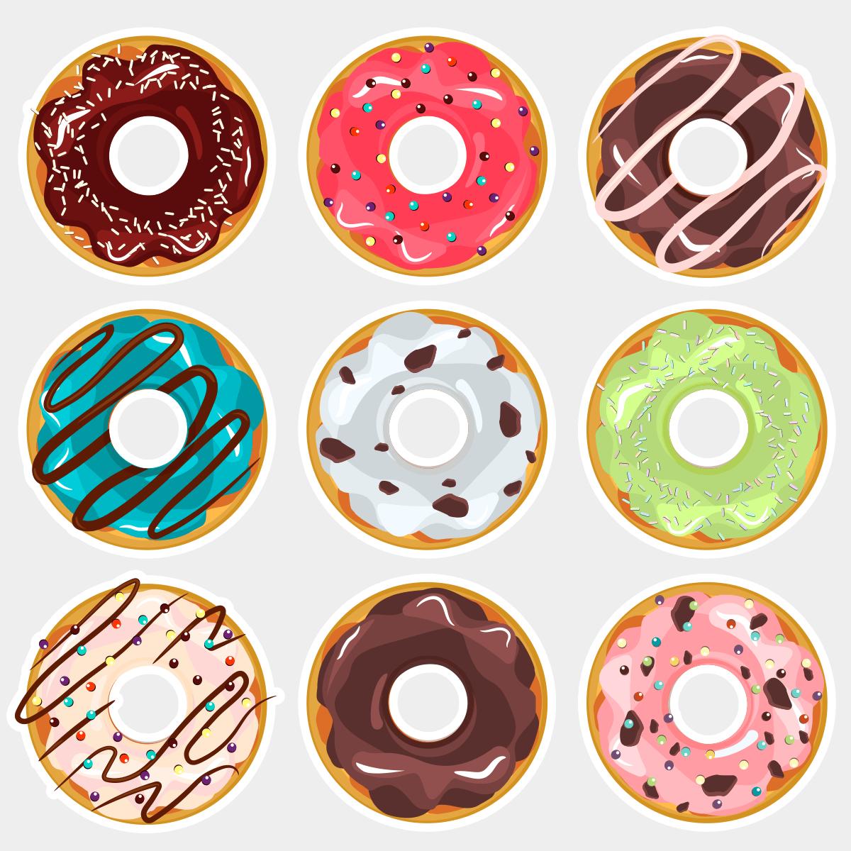 Фотобутафория Пончики 9 элементов