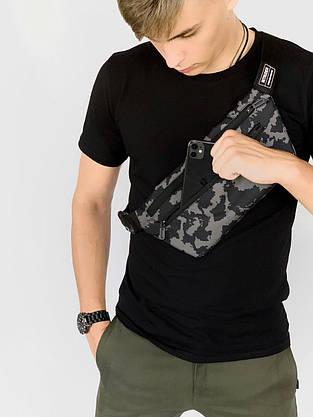 Бананка Мужская   Женская   Детская Intruder серый камуфляж сумка через плечо, фото 2